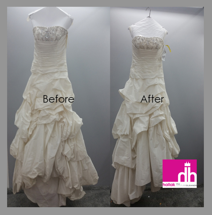 Hackensack nj wedding services hallak cleaners bridal for Why preserve wedding dress