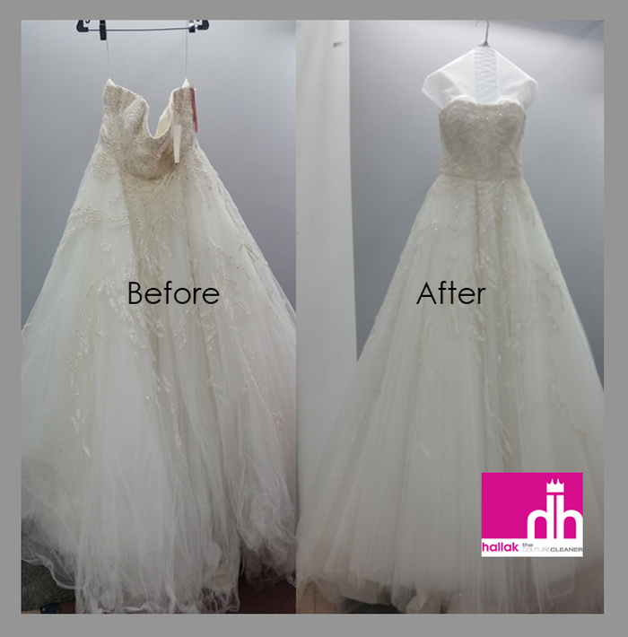 Before and After | Hallak Cleaners Bridal