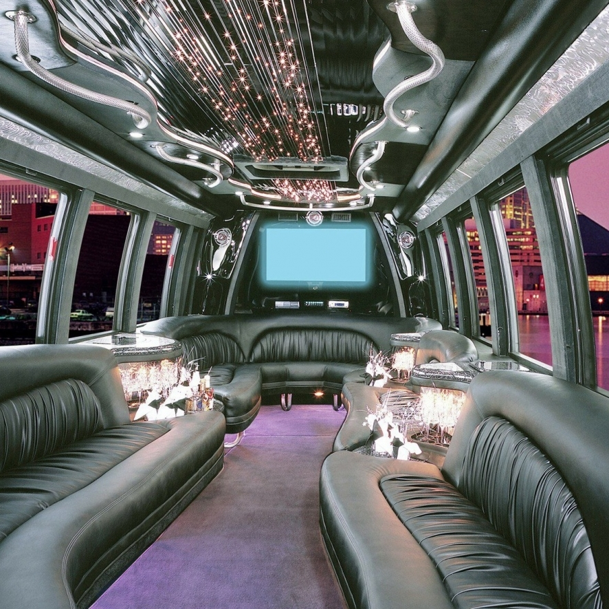 VEI Fleet With Party Buses, Stretches - VEI Limousine