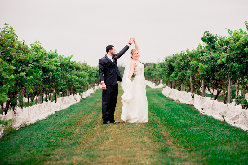 Sara and Eric's Wedding at Tomasello Winery
