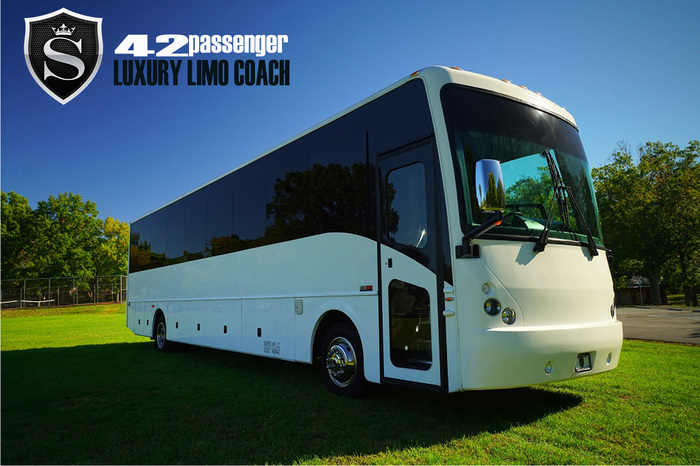 Limo Coach Party Bus 42P by Santos VIP Limousine | New Jersey Weddings