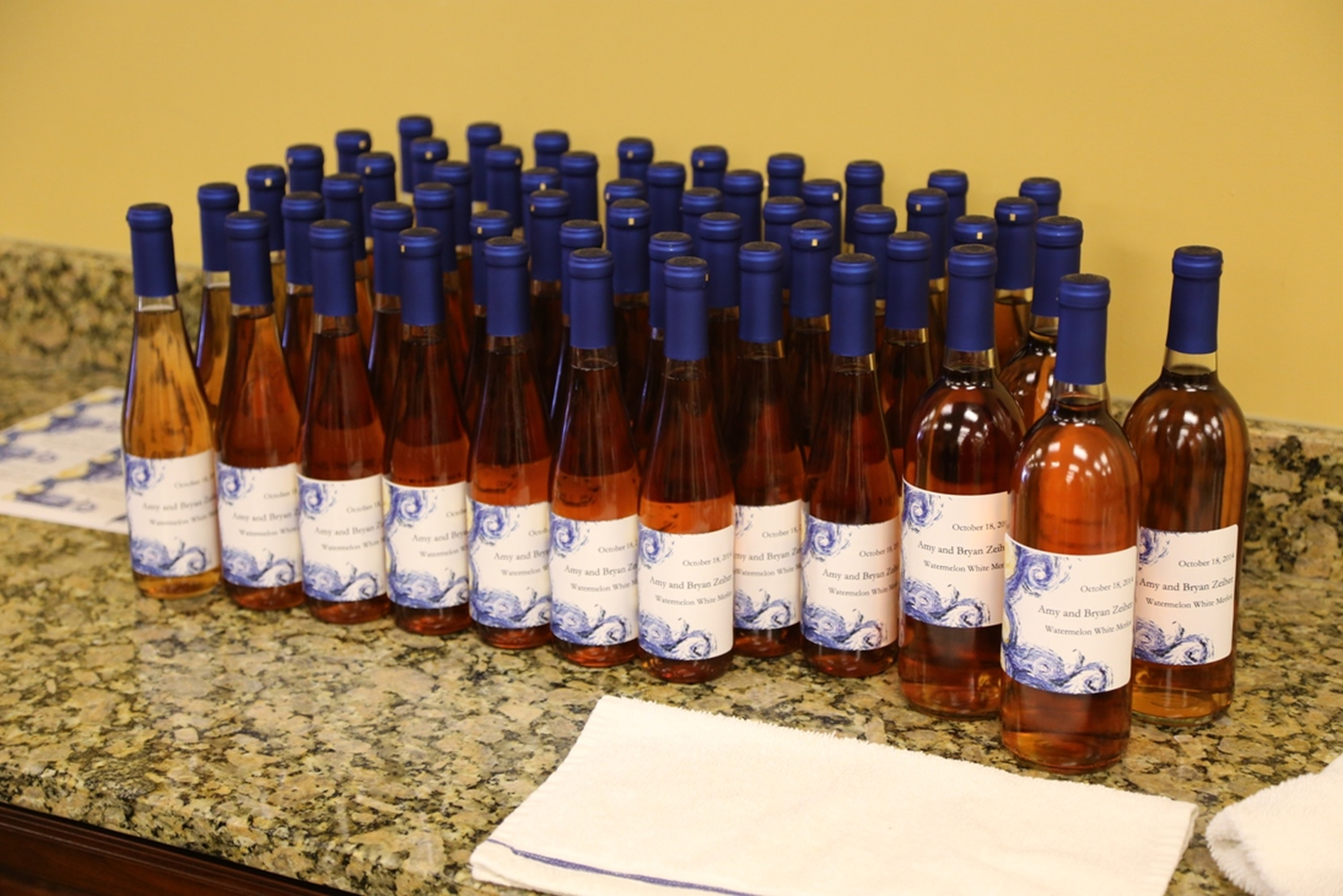 Custom Wine Bottle Wedding Favors | Your Own Winery | Riverdale, NJ