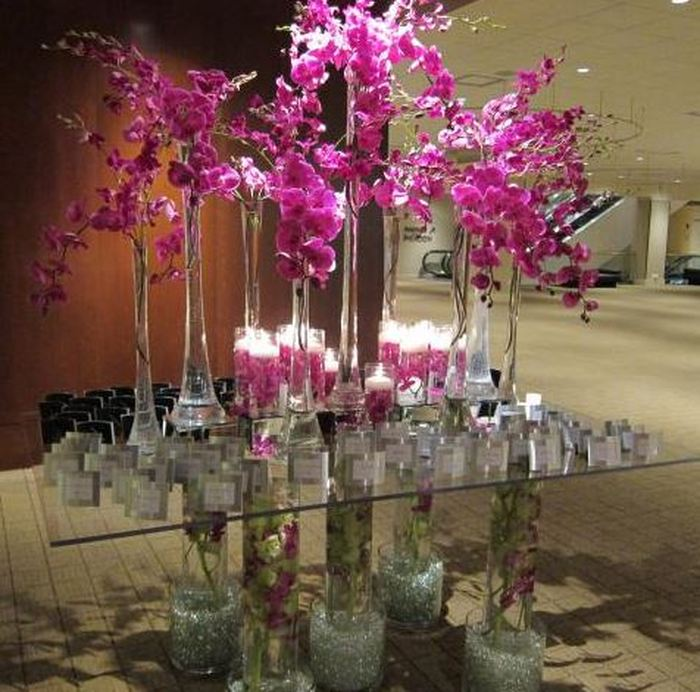 Flowers for Escort Card Tables by Amaryllis Event Decor
