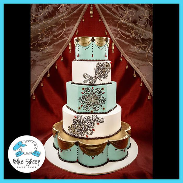 Henna Inspired Indian Wedding Cake