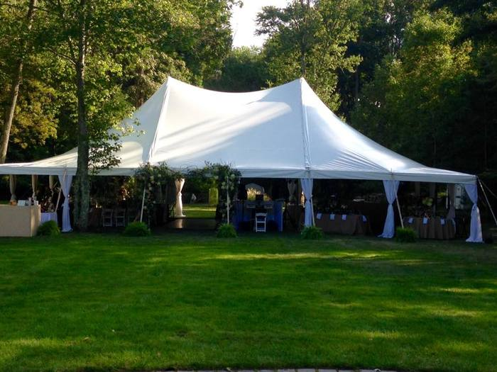 Outdoor Wedding in Saddle River, NJ by The Little Flower Shoppe