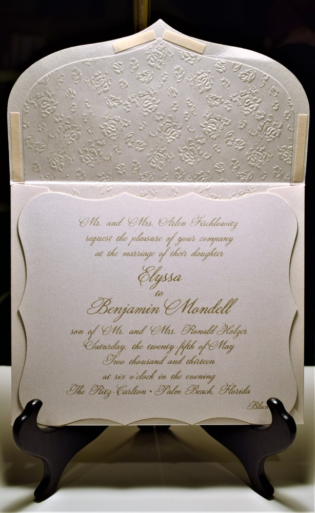 Custom Wedding Invitations by Muriel Meiskin | Freehold, New Jersey