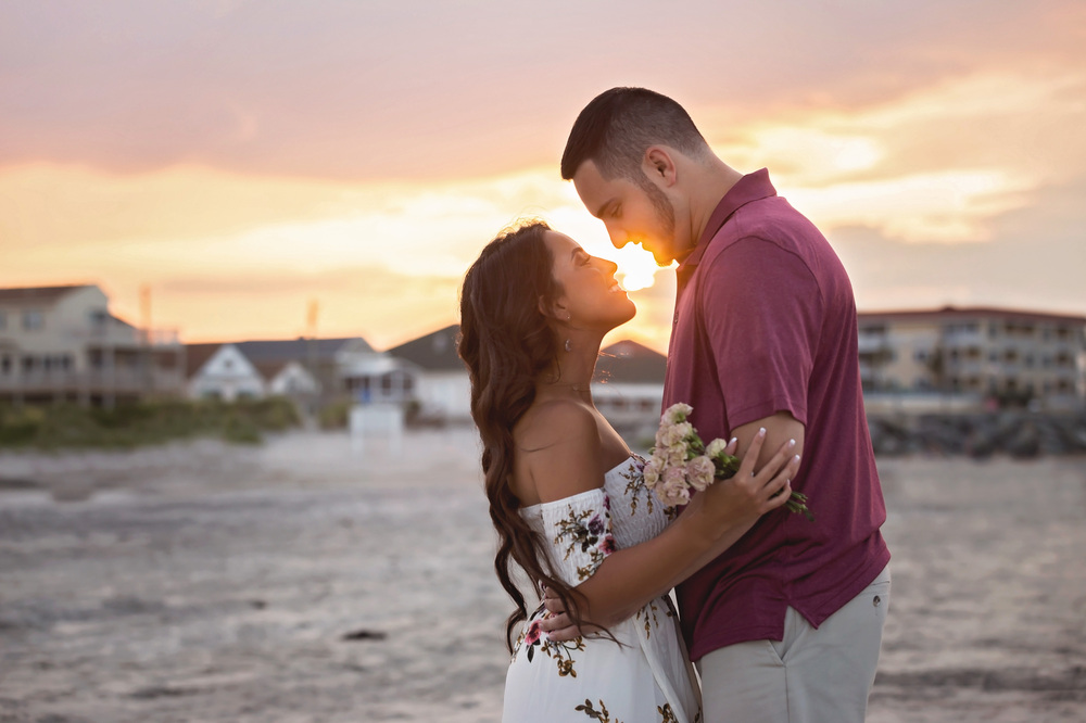 Blyss and Tony....Engagement session in North Wildwood, NJ | Memories by Maria Photography