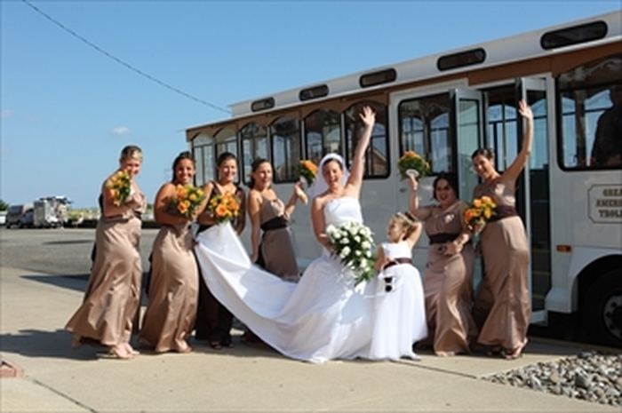 Wedding Trolleys by Great American Trolley Company, Cape May, NJ