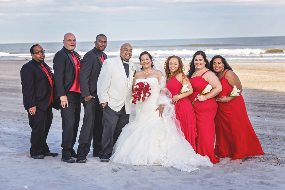 Ines & Maurice's Beautiful Beach Wedding in Brigantine, NJ | Memories By Maria Photography