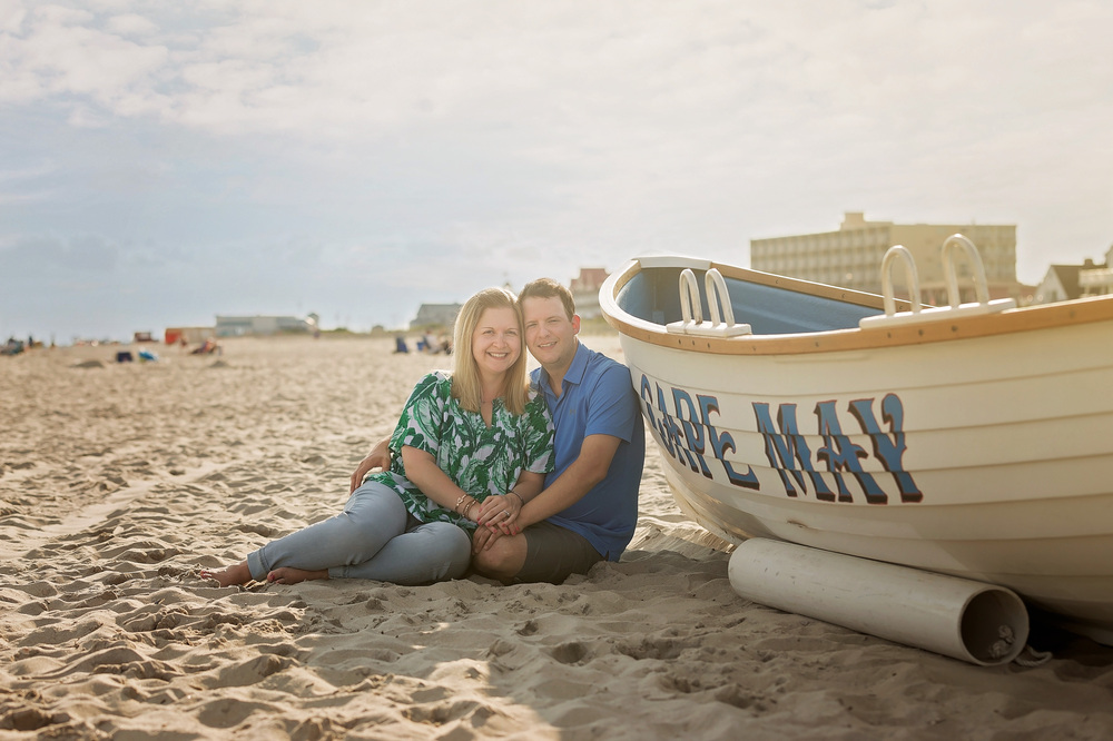 Cape May, NJ Beach Engagement Session | Memories By Maria Photography