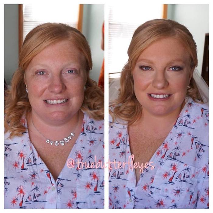Before & After Brides and Bridesmaids by Truebutterfleyes Make Up Artistry