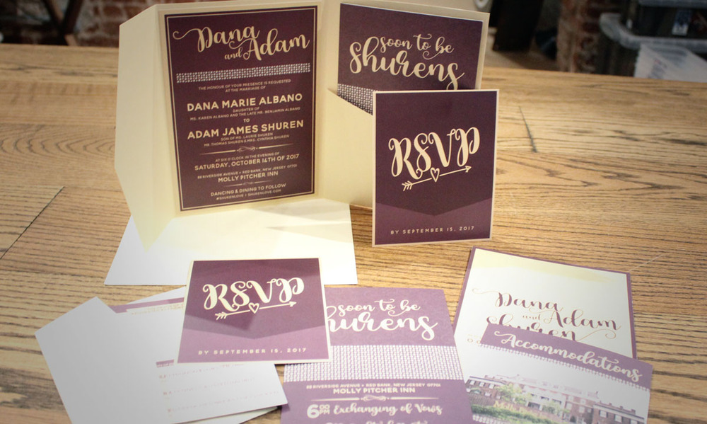 Pocket Invitations | Sofia + Abbie Wedding Design