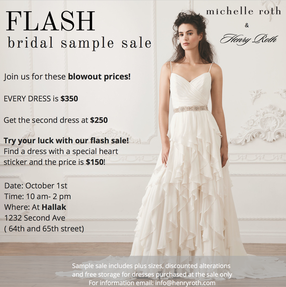 FLASH Bridal Sample Sale