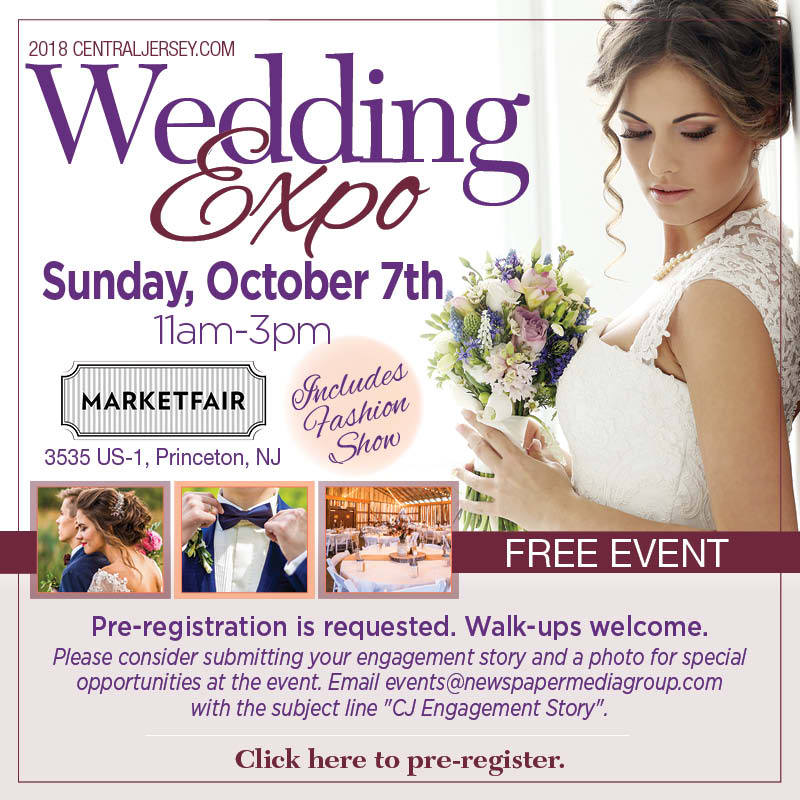 Central Jersey Wedding Expo at MarketFair Mall in Princeton