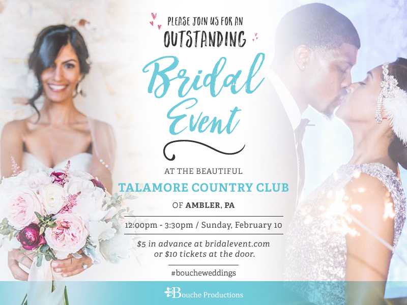 Bouche Productions Presents The Montgomery County Bridal Show and Wedding Showcase