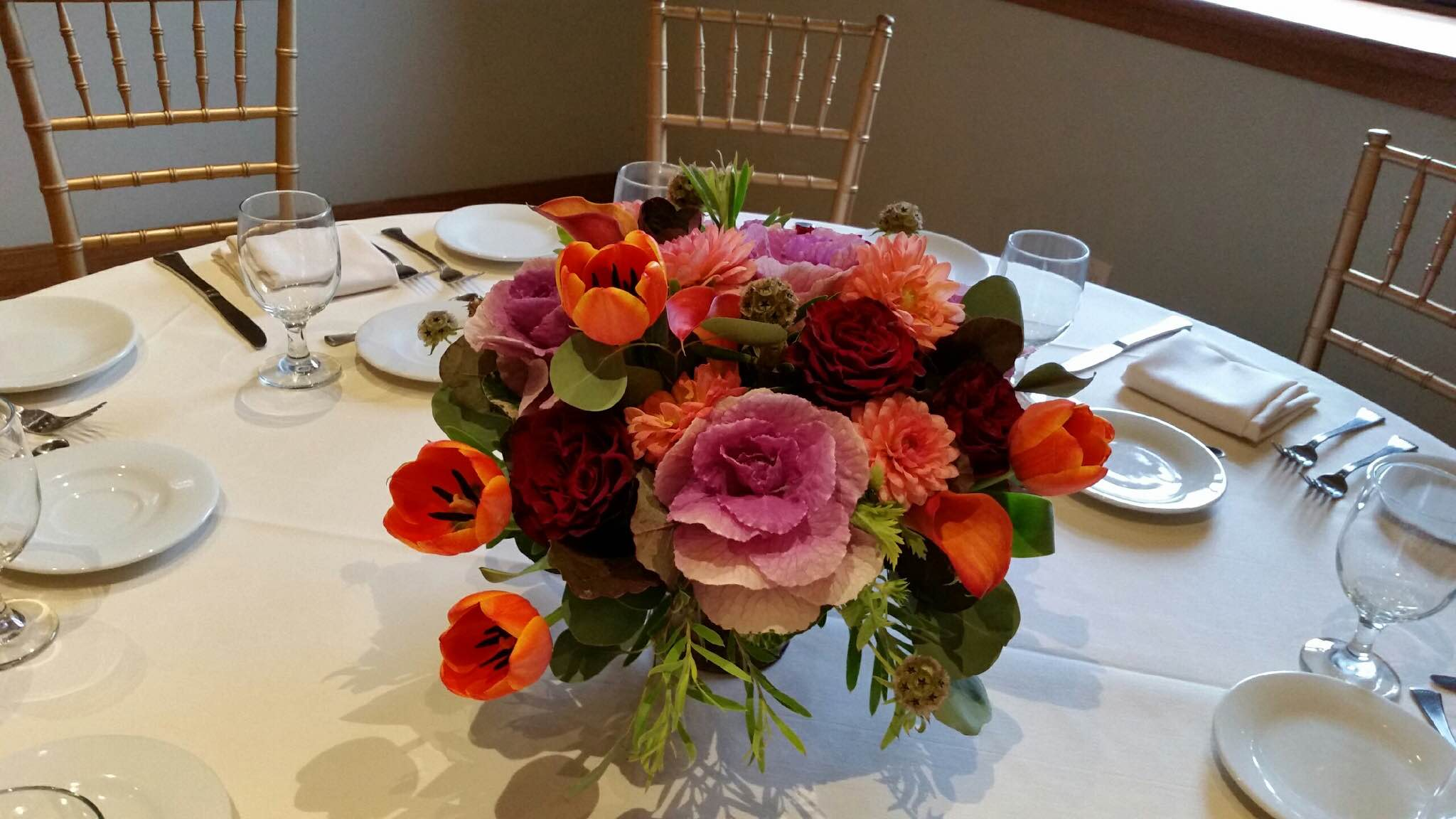 Purple Kale Floral Design For Your Autumn Wedding In NJ | Carousel Of Flowers