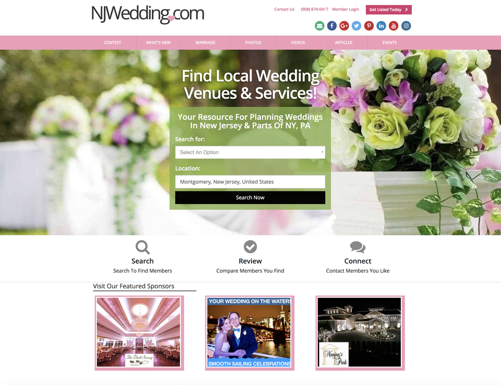 NJWedding.com Celebrates 23rd Anniversary Serving Local Wedding Community