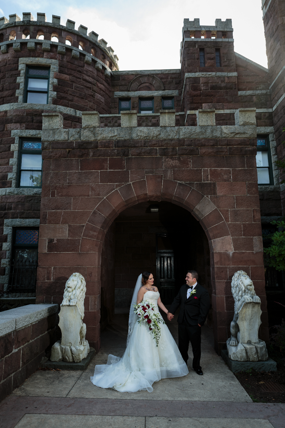 NJ castle featured in couple's formal photo session on their wedding day- The Graycliff in Moonachie, NJ.