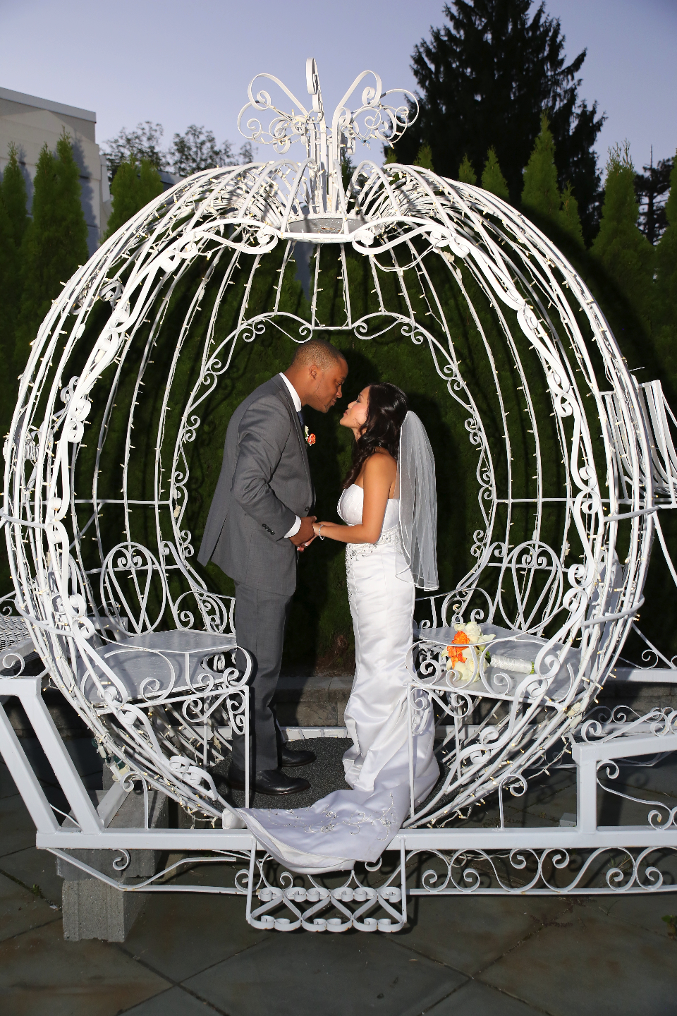 A true fairytale wedding complete with a cinderella coach- Anthony's Pier 9 in New Windsor, NY