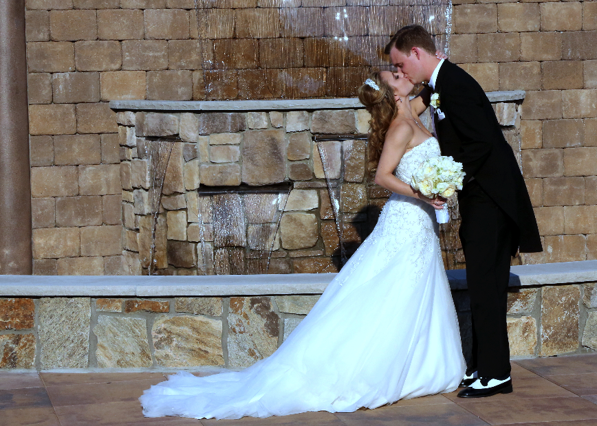 Waterfall of love brings joy to NJ couple on their wedding day- The Terrace at Biagio's in Paramus, NJ.