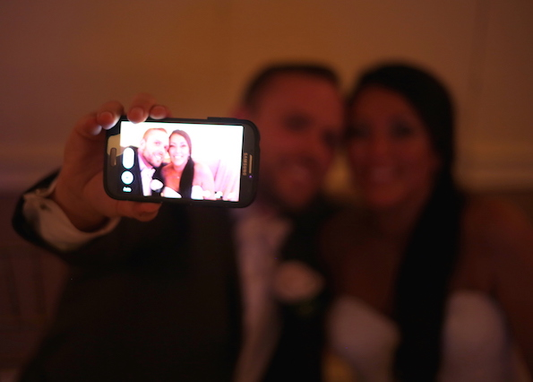 Newlywed Couple Does Not Miss the Opportunity for a Very Special Wedding Selfie-Stony Hill Inn in Hackensack, NJ