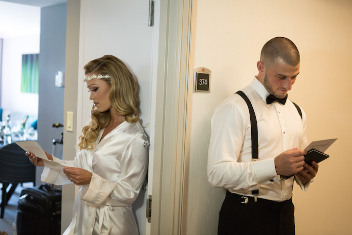 Bride & Groom Receive Unexpected Heartfelt Love Letters Before Walking Down the Aisle- Glen Ridge Country Club in Glen Ridge, NJ.