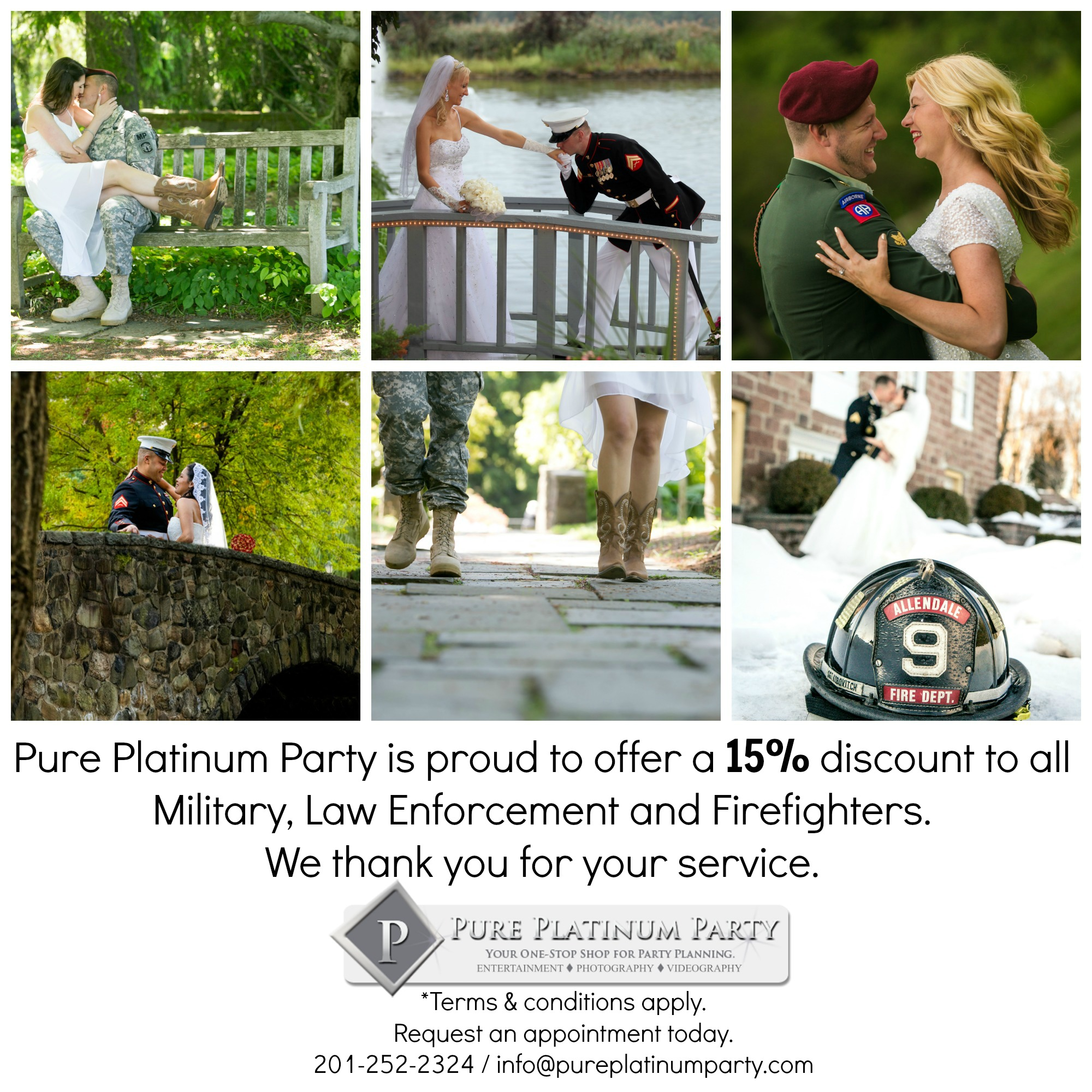 Proudly Offering a 15% Discount to All Military, Law Enforcement, and Firefighters
