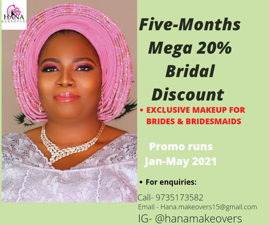 Five-Months Mega 20% Bridal Discount