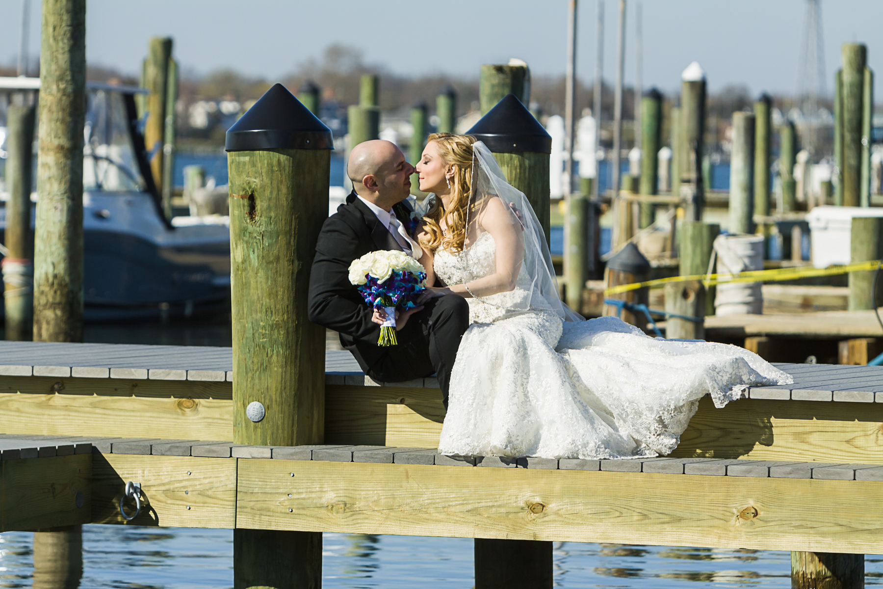 Clarks Landing Yacht Club | Point Pleasant, New Jersey | Adrienne & Stan's Wedding | David Eric Studio of Photography