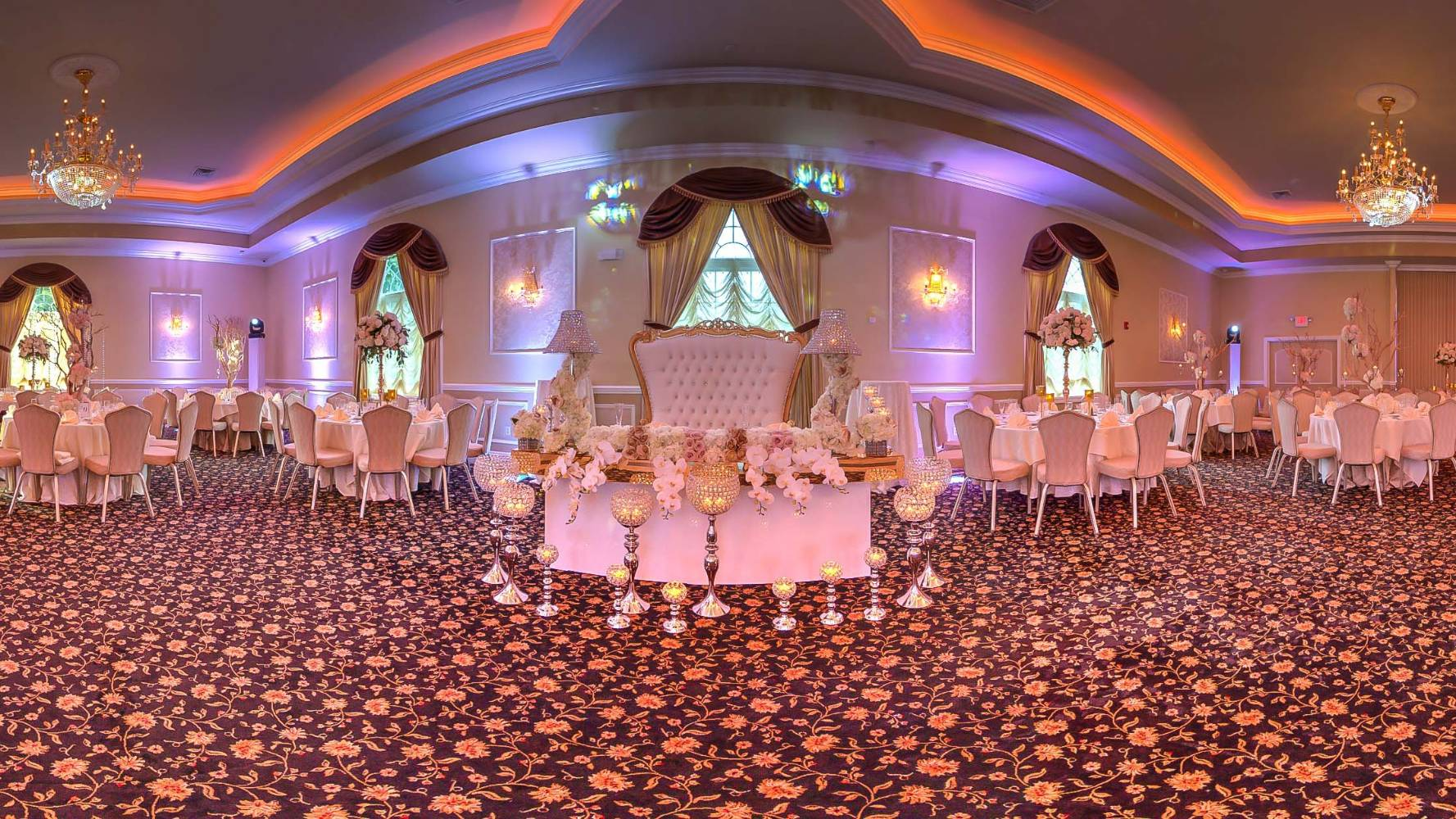 View Virtual Tour of Casa Bianca Banquets in Oak Ridge, NJ | 360 Site Visit