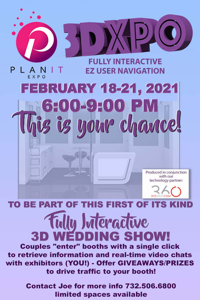 PlanIt Expo Hosts 3D Wedding Expo For Tri-State Engaged Couples