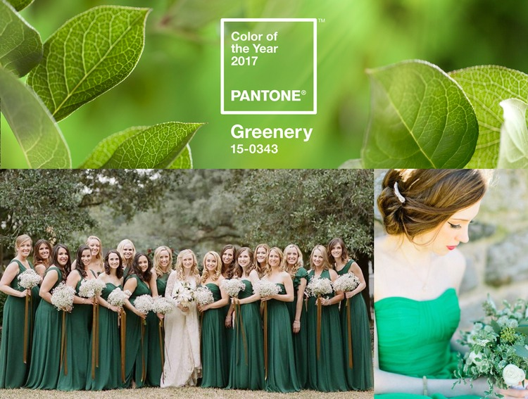 Bella Bridesmaids BUZZ: Go Green With PANTONE'S 2017 Color Of The Year