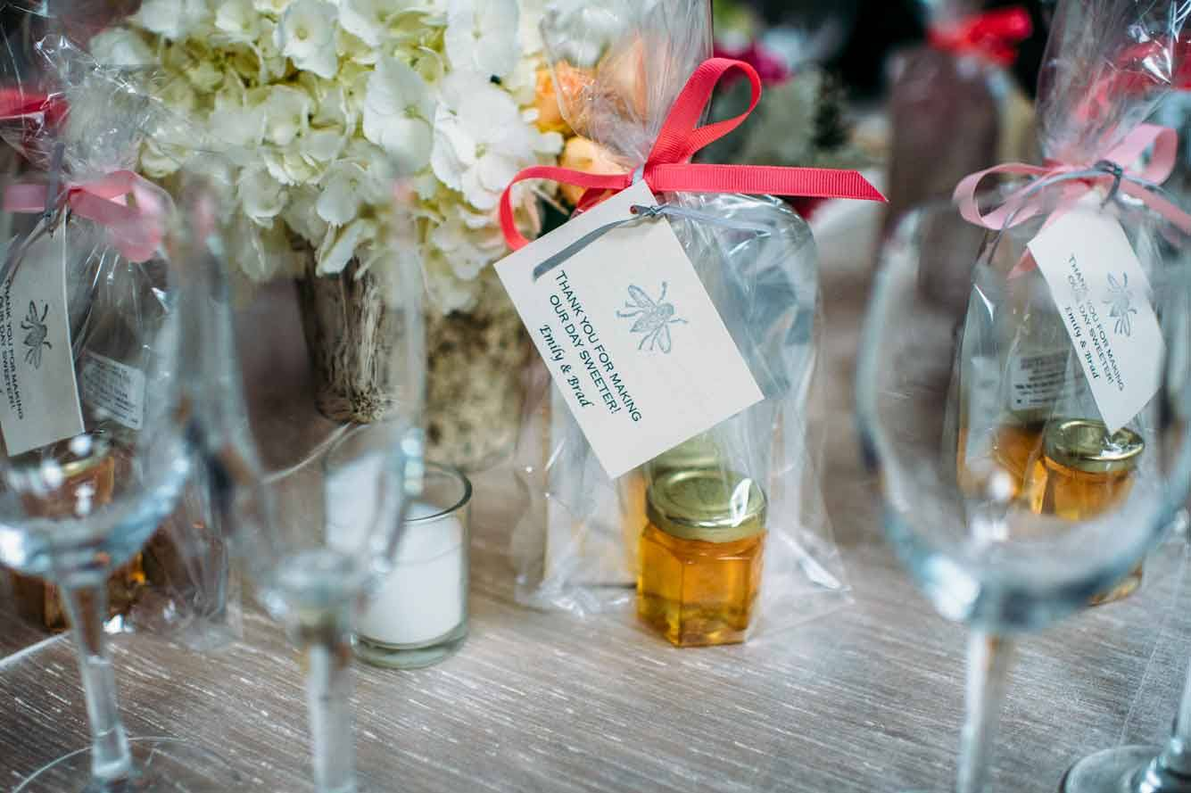 Emily and Brad's Honey Wedding Favors Story