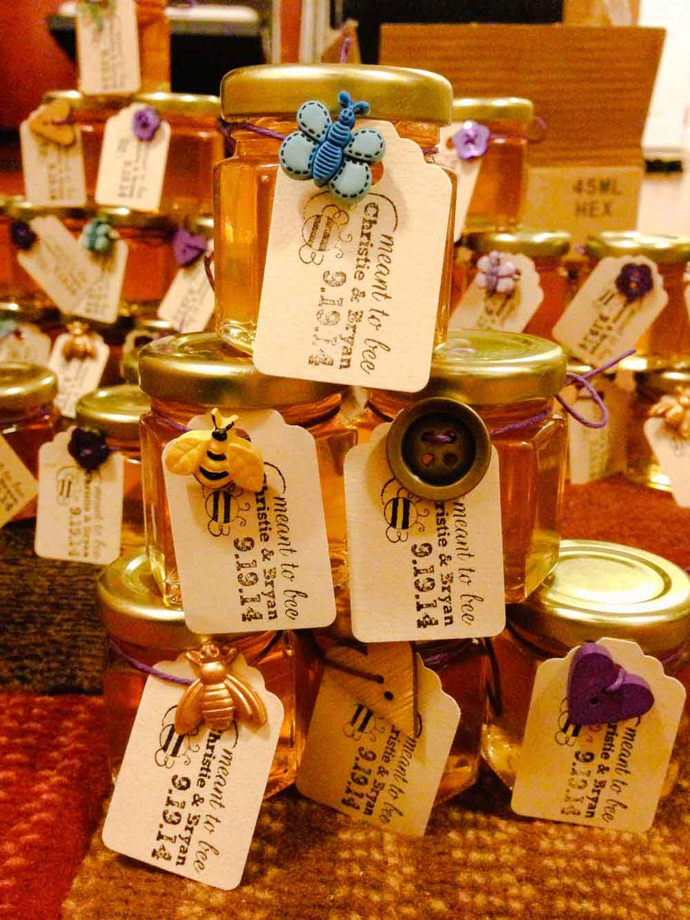 Christie and Bryan's Honey Jar Wedding Favors Story