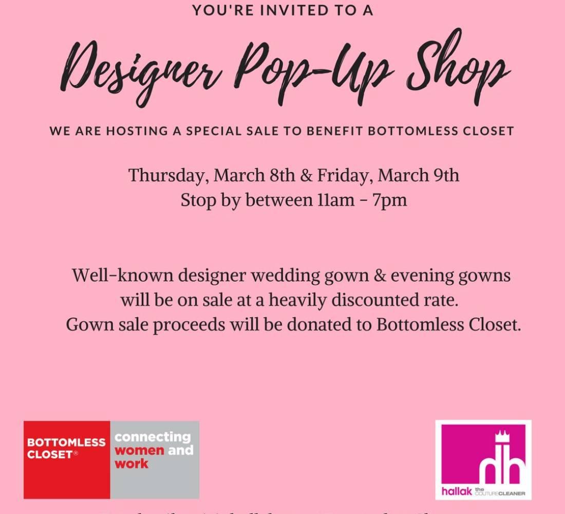 Hallak Bridal Designer Pop-Up Shop Event