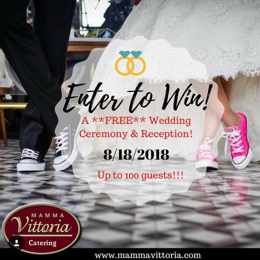Mamma Vittoria Catering giving away a Wedding Ceremony & Reception for 100 guests!